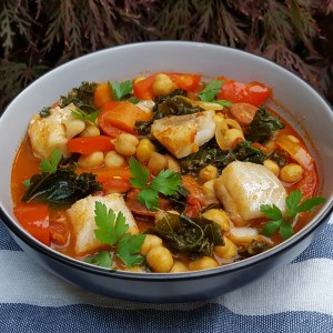 Spanish fish and chorizo stew