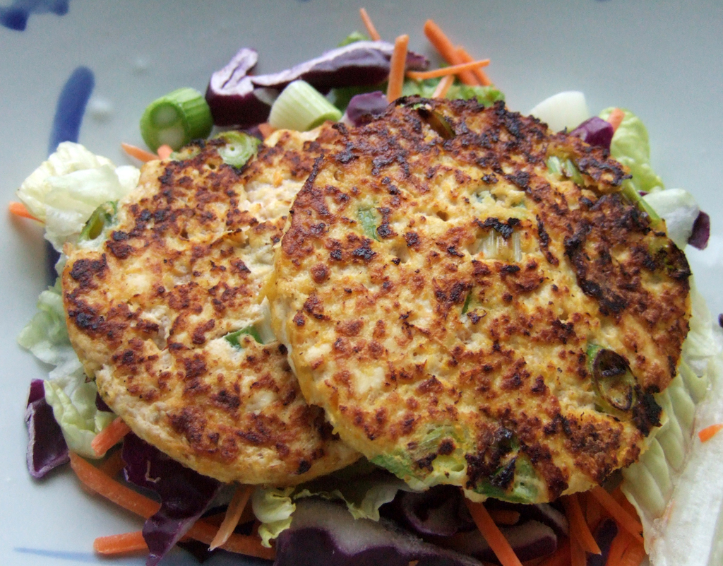Tofu and carrot fritters