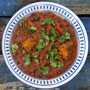 Black bean and sweet potato chilli