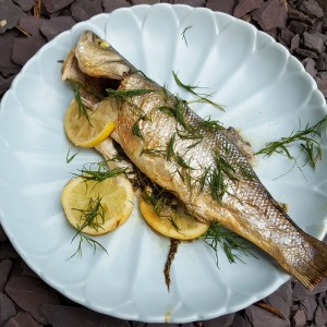 Zesty Baked Sea Bass