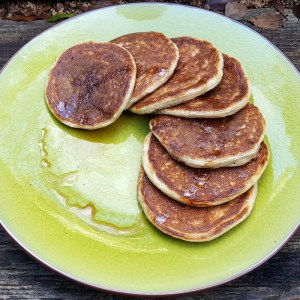 Quark and oat pancakes