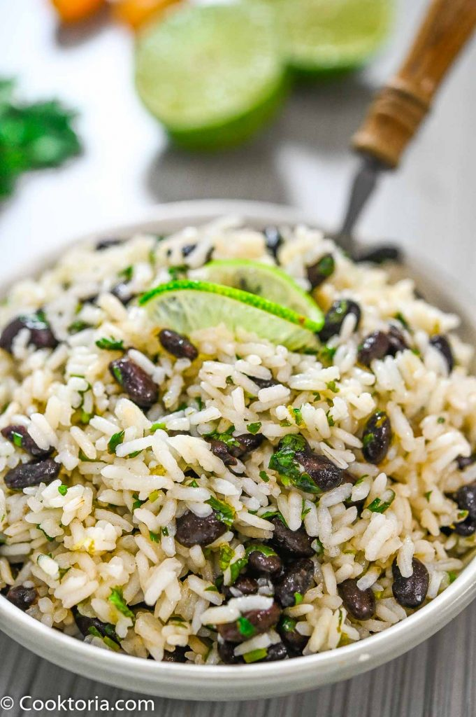 Cilantro Lime Black Beans and Rice