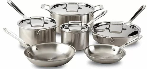 All-Clad D5 Brushed 18/10 Stainless Steel 5-Ply Bonded 14-piece Cookware Set
