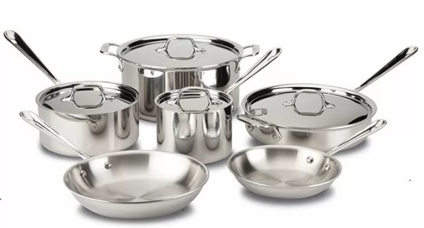All-Clad Tri-Ply Stainless Steel 10-Piece Cookware Set