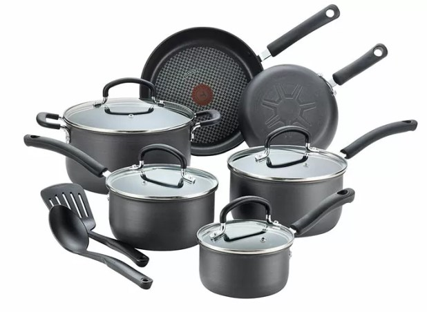 T-Fal Hard-Anodized 12-Piece Cookware Set