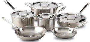All-Clad BD005710-R D5 - Best Rated Stainless Steel Cookware Set