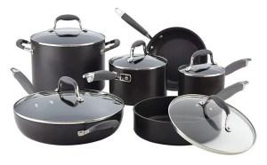 Anolon Advanced 11-Piece Cookware Set - Best Nonstick Cookware for Gas Stove