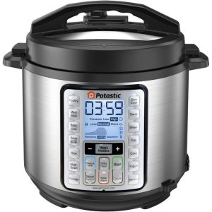 Potastic EP6 10-in-1 Programmable Electric Mini Stainless Steel Rice Cooker
