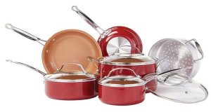 Red Copper Copper-Infused Made in USA Ceramic Cookware