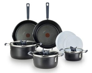 T-fal B210SA All-in-Onee Stackables Titanium Nonstick Cookware Set