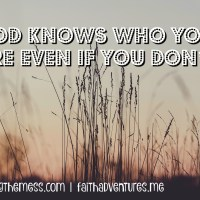 God Knows Who You Are Even If You Don't {Guest Post}