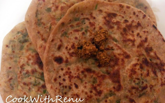 Paneer (Cottage Cheese) Paratha