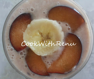 Oats Plum Banana MilkShake