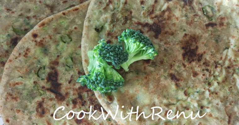 Broccoli and Paneer Paratha