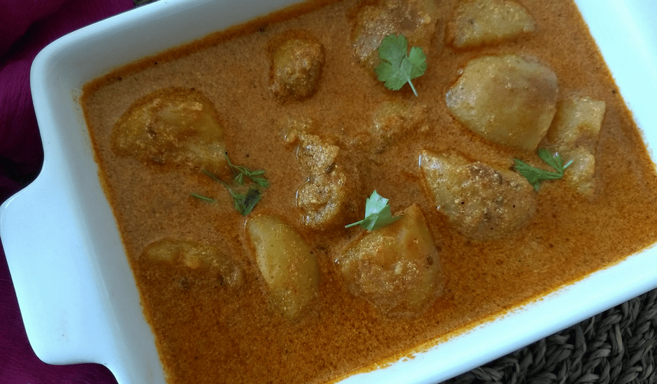 Kashmiri Dum Aloo (No Onion, No Garlic)