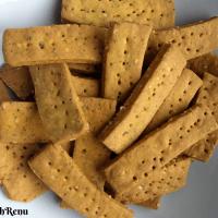 Baked Chickpea Crackers (Vegan + Gluten Free)