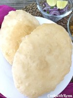 Bhatura (Without oil or Baking pwd or Baking Soda in dough)