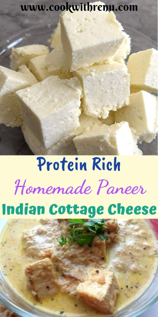 Home made Paneer |Indian Cottage Cheese - Step by step instructions on how to make the best soft paneer (Indian Cottage Cheese) at home without any special equipments.
