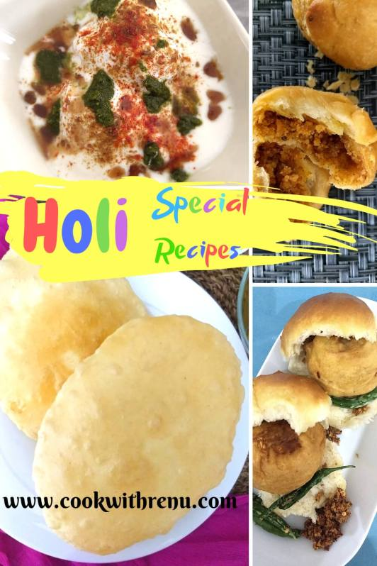 Lip-Smacking Holi Special Delicacies - A collection of mouthwatering and lip-smacking Holi Special Delicacies to enjoy during holi, ranging from chaat's (Dahi Vada, Ragda Pattice), Puri's, Kachori, Bhatura to Dessert's such as Rasgulla.