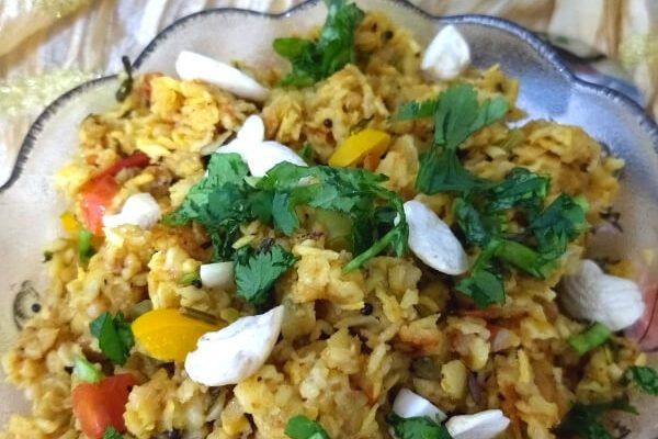 Savory 10 minutes Vegetable Oats Upma