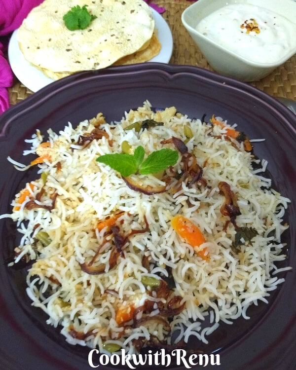 Awadhi Vegetable Biryani