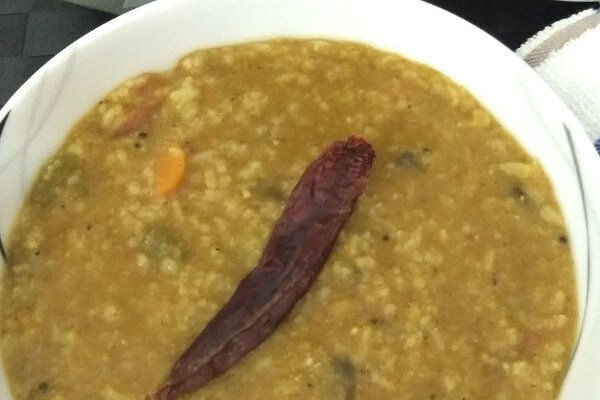 Karnataka Style Bisi bele bath | Hot Lentil Rice