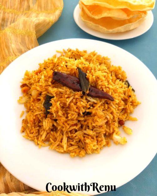 Puliyodharai |Tamarind Rice