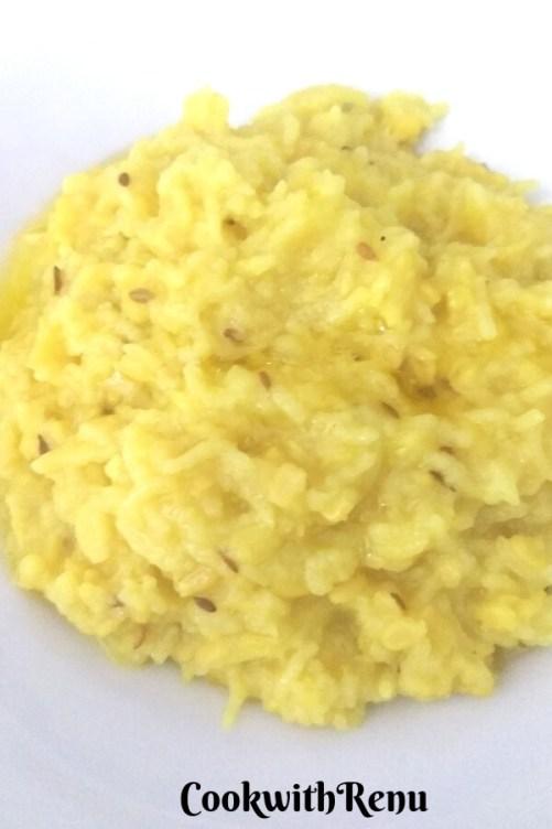 Yellow Moong Dal Khichdi