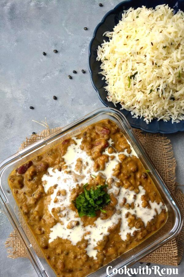 Dal Makhani | Indian Style Creamy Black Lentils - Dal Makhani a protein rich dal made using black lentils and kidney beans. It is one of the quintessential dals from the state of Punjab, India.