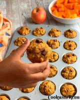Whole Wheat Butternut Squash and Apple Muffins