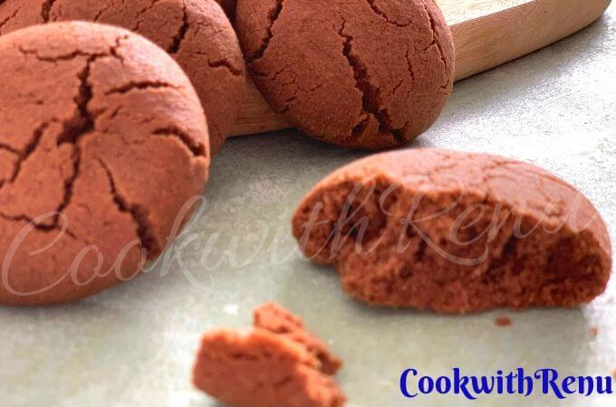 Eggless Jowar Chocolate Cookies (Gluten Free)