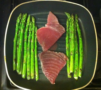 Here's the same method with tuna steaks