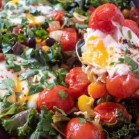 Sunday Brunch Ideas : Chorizo Beans and Vegetables Breakfast Skillet