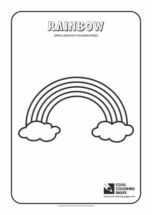 coloring easy pages simple rainbow cool activities sheets toddlers printables toddler educational