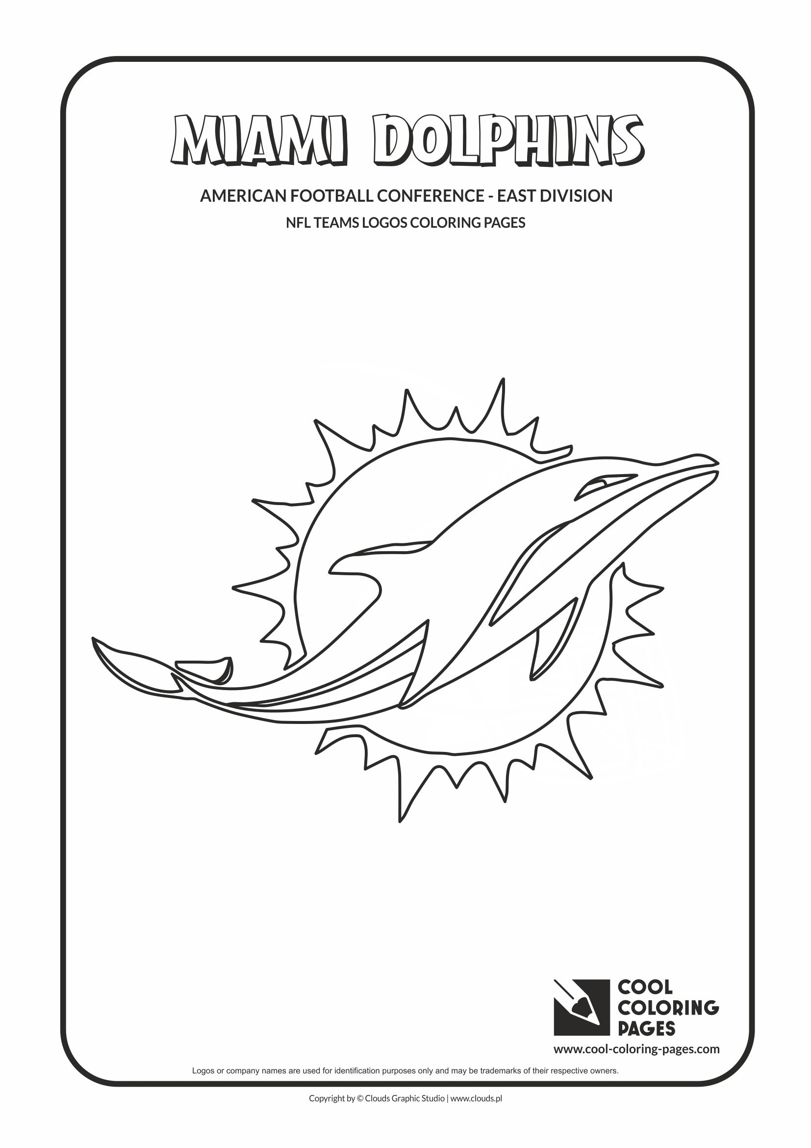 Miami Dolphins Coloring Pages : miami, dolphins, coloring, pages, Coloring, Pages, Miami, Dolphins, American, Football, Teams, Logos, Educational, Activities