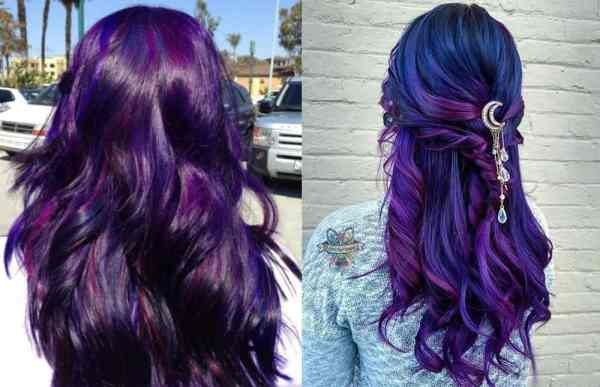 Dark Purple And Blue Hair Color Ideas - hair coloring