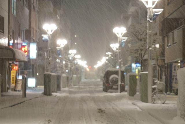 雪,街,冬,積雪