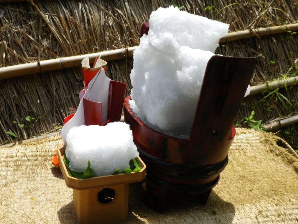 氷室開き,湯涌温泉,雪氷,氷