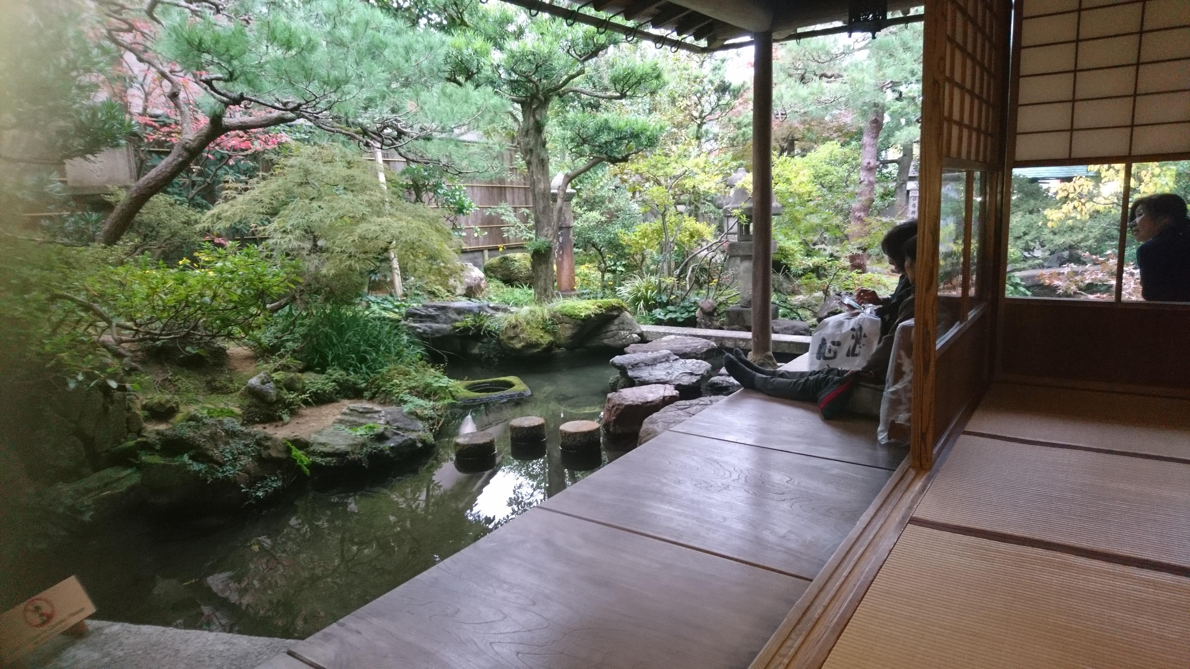 武家屋敷跡,野村家,金沢,庭園,濡れ縁