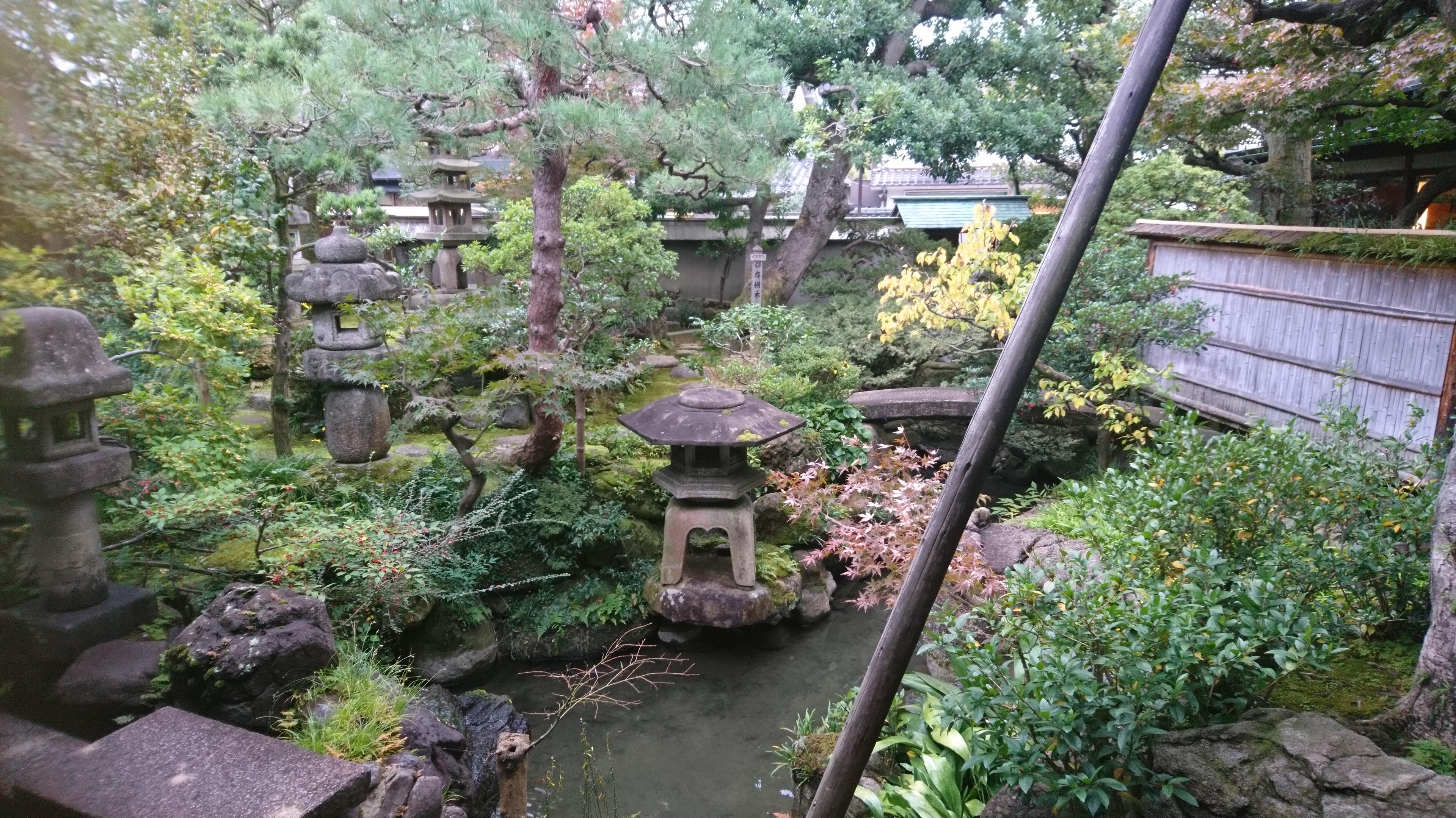 武家屋敷跡,野村家,庭園,遠近法,灯籠