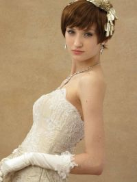 bridal hairstyles for short hair with bangs