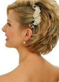 Pictures Of Bridal Hairstyles For Short Hair