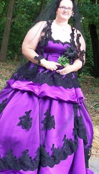 Plus Size Black And Purple Wedding Dresses