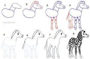 zebra draw step drawing simple cool2bkids drawings animal cartoon animals tutorial stripes painting cebra getdrawings tips zoo