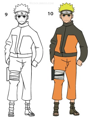 naruto draw easy step drawing cool2bkids