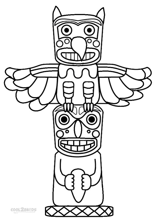 Otter Totem Pole Drawing
