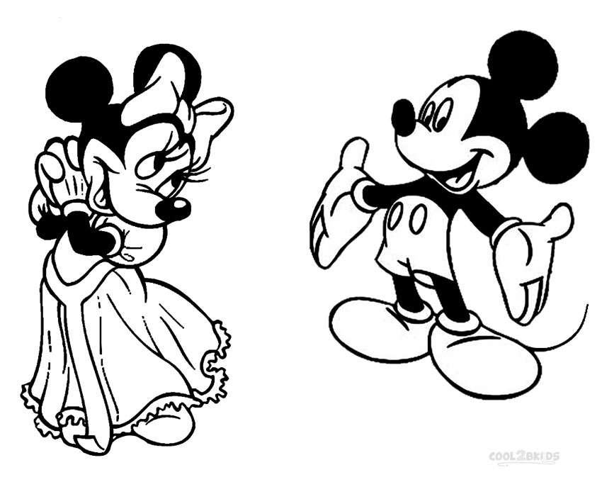 Mickey And Minnie Mouse Coloring Sheets Novocom Top