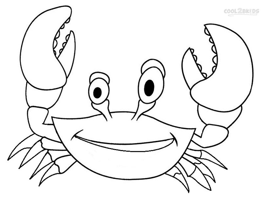 Printable Crab Coloring Pages For Kids