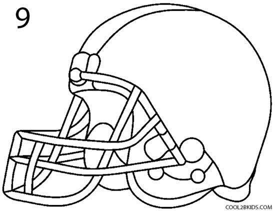 How To Draw A Football Helmet Step By Step Pictures