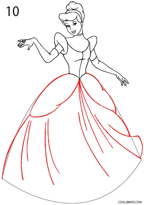 How To Draw Cinderella : cinderella, Cinderella, (Step, Pictures)